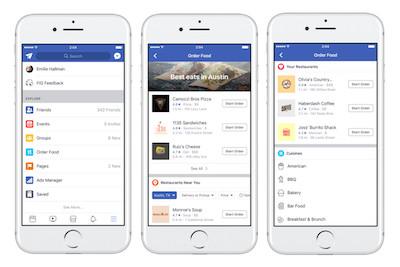 Facebook Order Food: Facebook punta sul Food Delivery