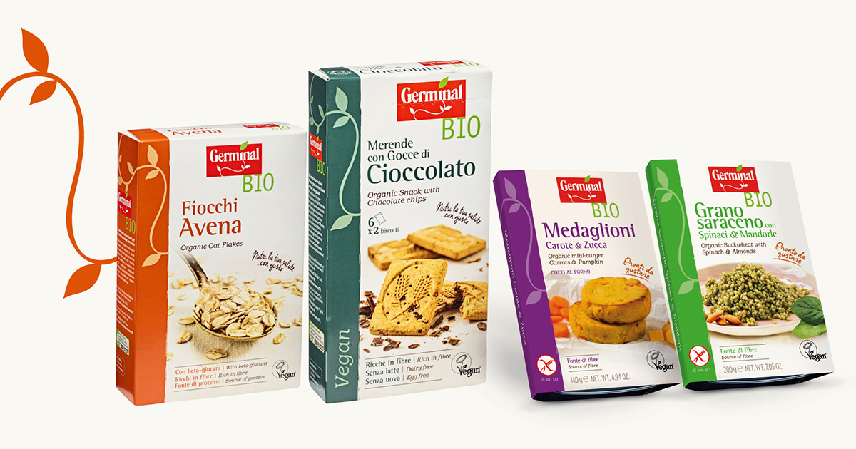 il packaginng restyling dei prodotti germinal bio