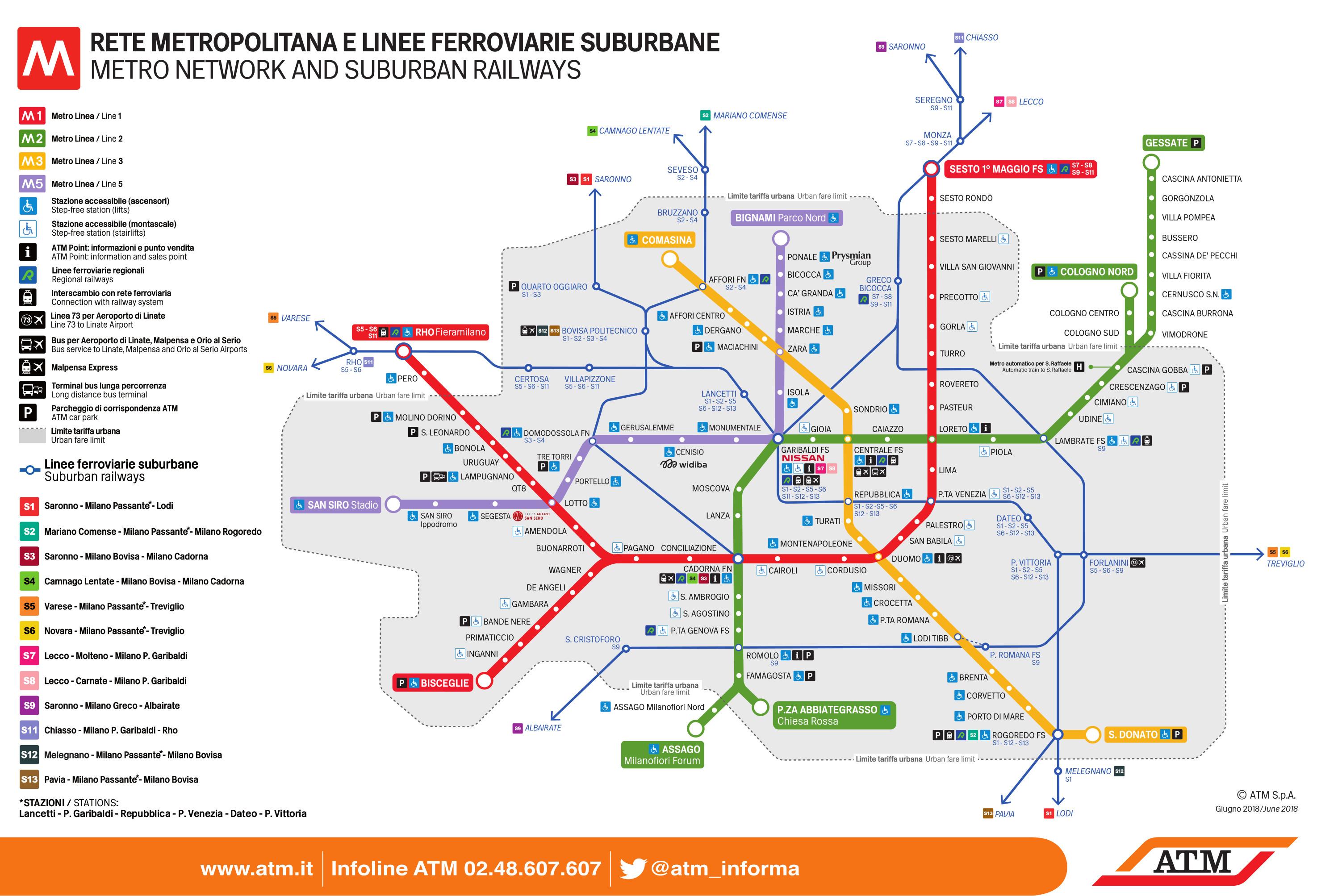 mappa metropolitana di milano